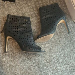 Vince Camuto open toe heeled booties